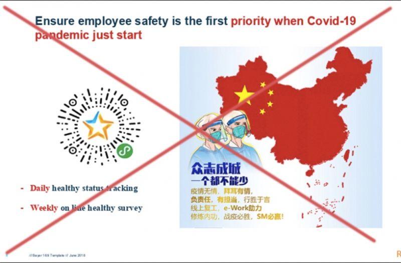 Đường lưỡi bò phi pháp mà bà Lynette Moey Yu Lin chia sẻ cho các nhân viên.