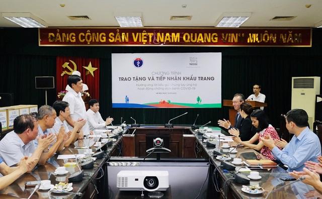 Ông Đỗ Xuân Tuyên, Cục trưởng Cục Y tế dự phòng phát biểu tại buổi lễ.