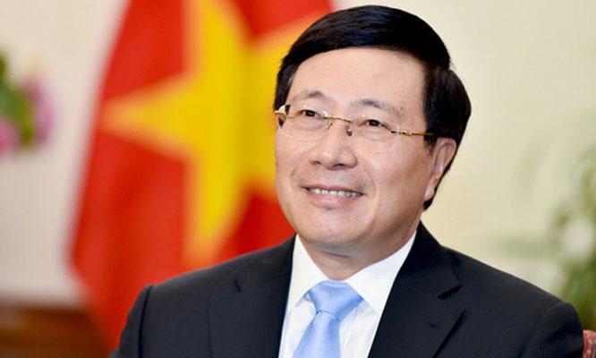 Đồng chí Phạm Bình Minh, ủy viên Bộ Chính trị, Phó Thủ tướng Chính phủ, Bộ trưởng Bộ Ngoại giao.