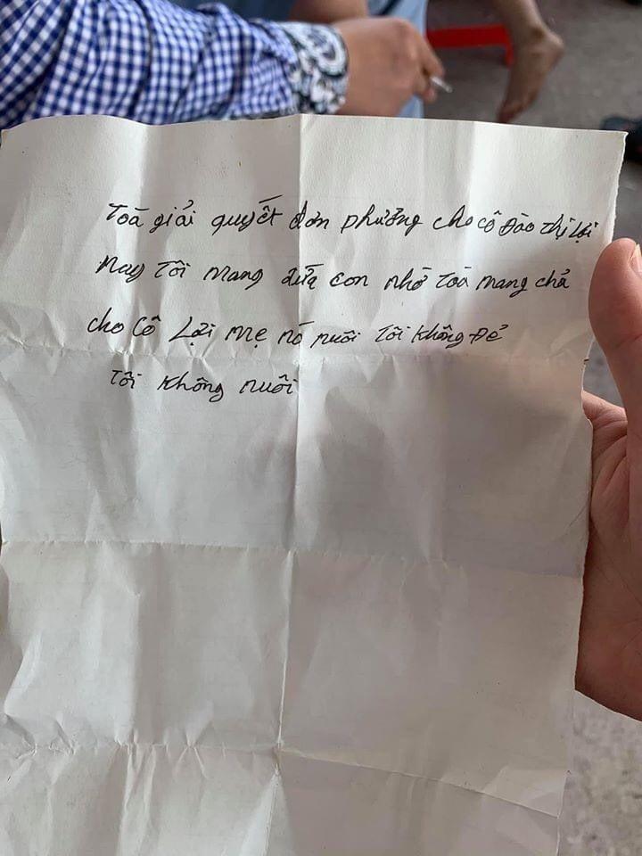 Mẩu giấy trả lại con của người cha