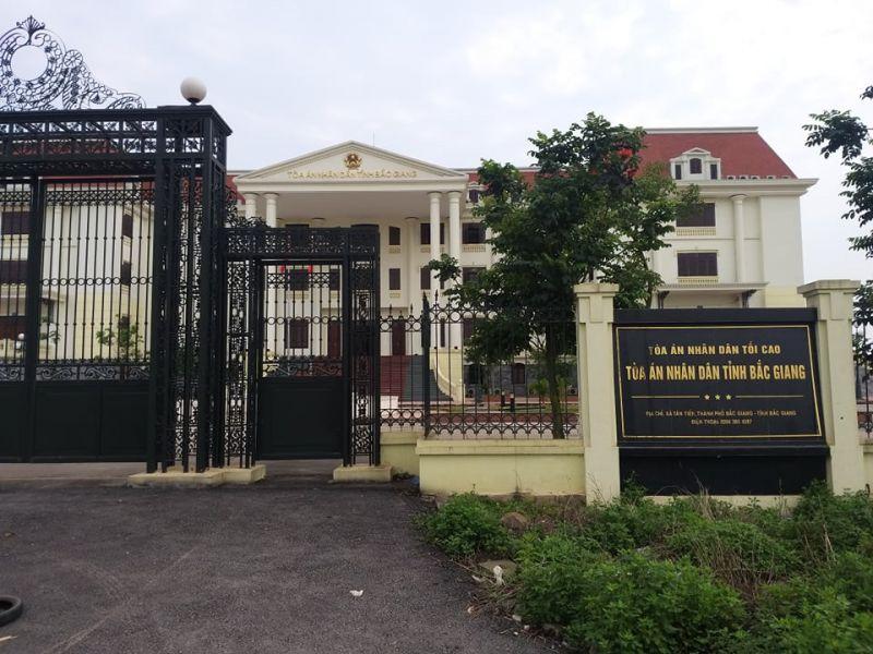 Tòa án nhân dân tình Bắc Giang, nơi cháu bé bị bố mẹ bỏ rơi