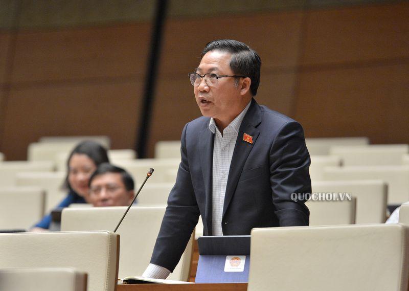 Đại biểu Quốc hội Lưu Bình Nhưỡng đóng góp ý kiến tại Kỳ họp.