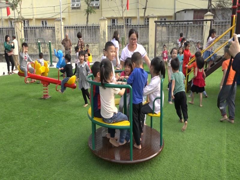 Sân chơi cộng đồng tại xã Đồng Tâm, huyện Mỹ Đức