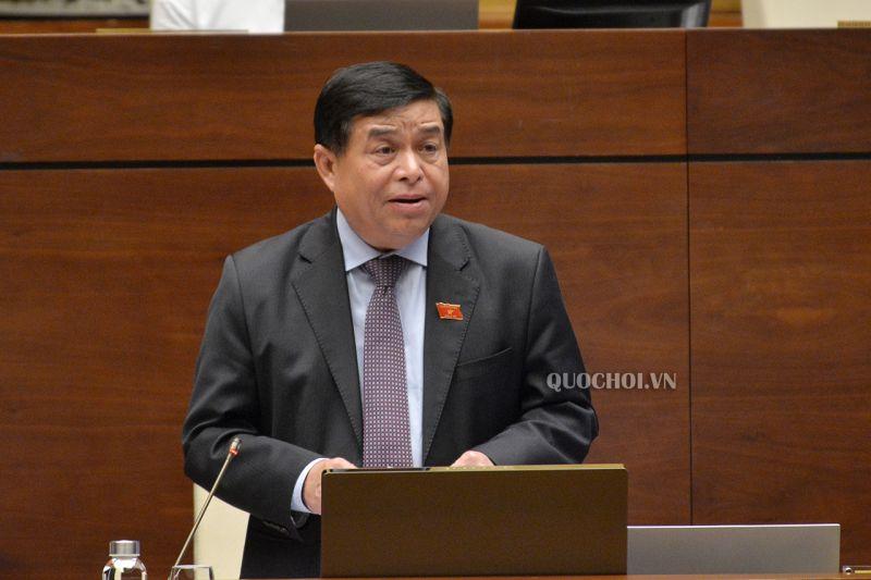 Bộ trưởng Bộ Kế hoạch và Đầu tư Nguyễn Chí Dũng tiếp thu một số vấn đề