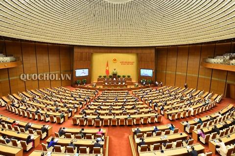 Các đại biểu quốc hội tại phòng họp Diên Hồng.