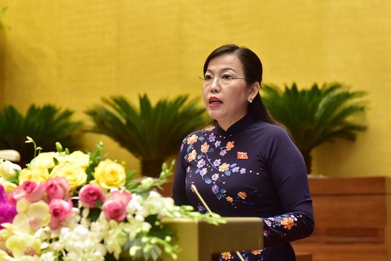 Trưởng ban Dân nguyện Nguyễn Thanh Hải báo cáo tại kỳ họp.