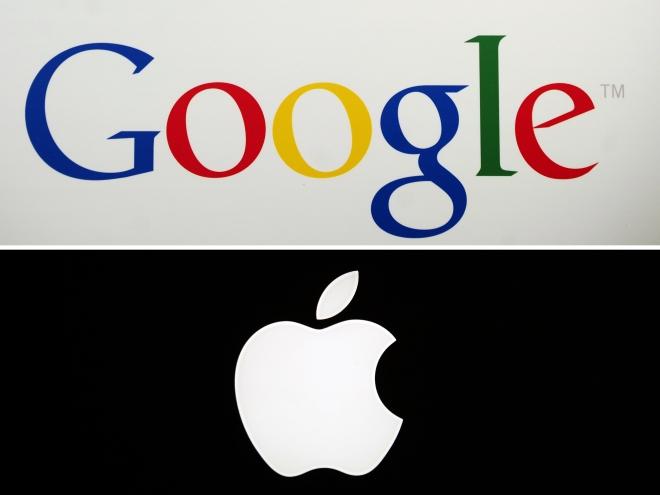 Biểu tượng Google và Apple.