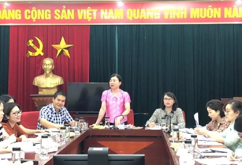 Đồng chí Nguyễn Thị Kim Thanh - Trưởng ban Hỗ trợ phụ nữ phát triển kinh tế Hội LHPN thành phố Hà Nội