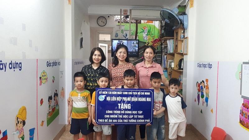 Hoàng Mai trao tặng công trình đồ dùng học tập cho trường mầm non An Bình