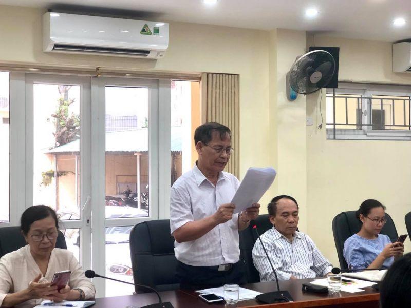 Ông Nguyễn Đình Tại, Bí thư chi bộ TDP số 8 phường Yên Hòa phát biểu tham luận