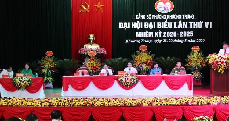 Với tinh thần dân chủ, đoàn kết, trách nhiệm, Đại hội Đảng bộ phường Khương Trung đã thành công tốt đẹp