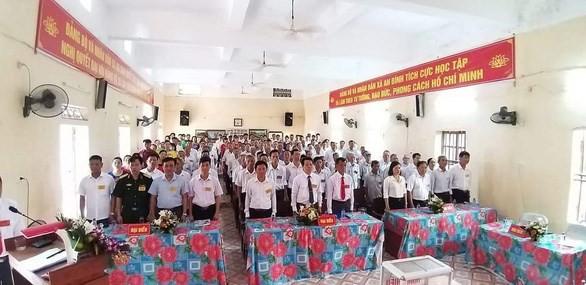 Quang cảnh kỳ Đại hội Đảng bộ xã An Bình, huyện Kiến Xương, tỉnh Thái Bình nhiệm kỳ 2020-2025 tổ chức ngày 13/5. (Nguồn: Báo Tuổi trẻ)