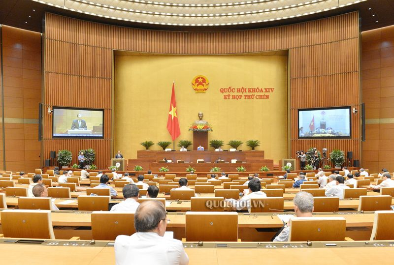 Toàn cảnh phiên họp ngày 26/5, Kỳ họp thứ 9, Quốc hội khóa XIV.