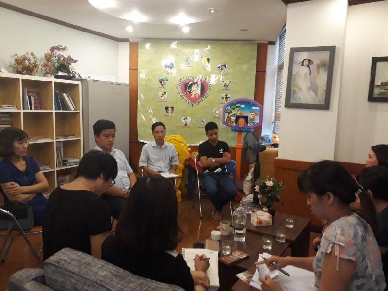 Đoàn công tác phường, quận và Thành phố Việt Trì, Phú thọ đến thăm cháu DK