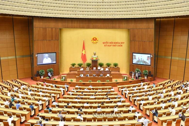 Quang cảnh phiên họp sáng 27/5, kỳ họp thứ 9, Quốc hội khóa XIV.