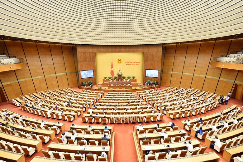 Toàn cảnh kỳ họp thứ 9, Quốc hội khóa XIV sáng 27/5.