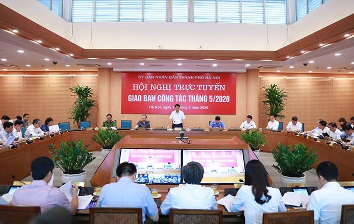 Phiên họp giao ban trực tuyến tháng 5 của UBND TP