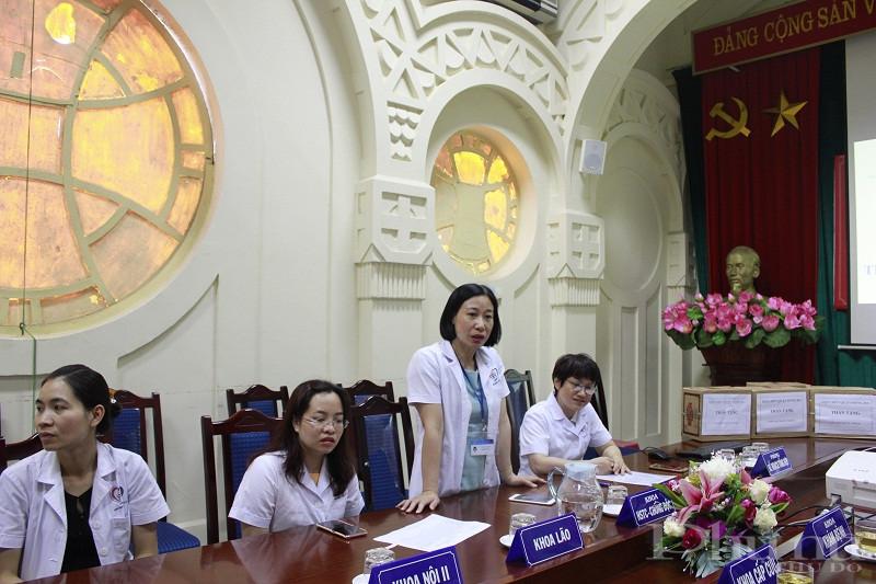 Thạc sỹ Nguyễn Thu Hằng- Trưởng khoa Dược bệnh viện Đa khoa Đống Đa cho biết: Đây là một hoạt động hết sức có ý nghĩa đối với bệnh viện của hội viên  phụ nữ trên địa bàn.