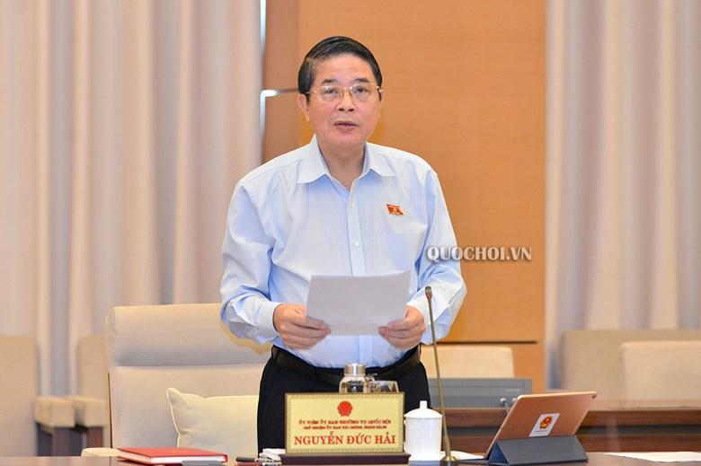 Chủ nhiệm Ủy ban Tài chính, Ngân sách của Quốc hội Nguyễn Đức Hải.