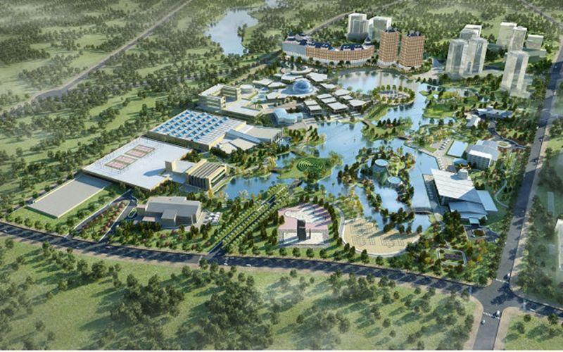 Phối cảnh khu công nghệ cao Hòa Lạc, một phần của đô thị Hòa Lạc