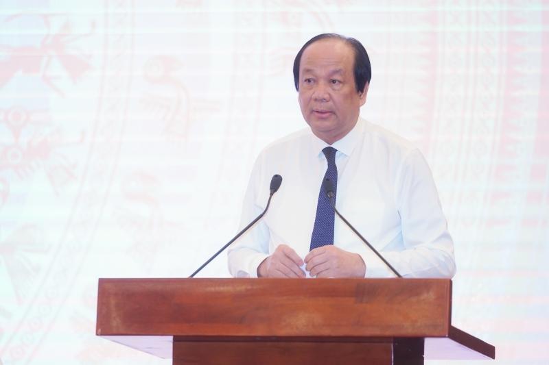 Bộ trưởng, Chủ nhiệm VPCP, Người phát ngôn của Chính phủ Mai Tiến Dũng chủ trì họp báo Chính phủ thường kỳ tháng 5/2020.