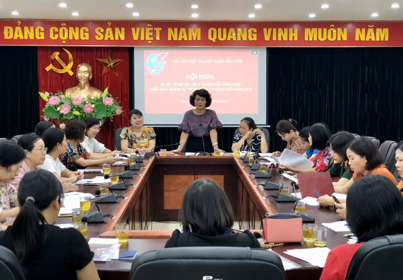 Hội nghị Sơ kết công tác Hội 6 tháng đầu năm của Hội LHPN Cầu Giấy tổ chức sáng ngày 5/6/2020