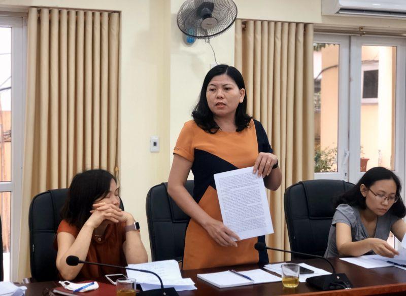 Chị Lê Thị Hà, Chủ tịch Hội LHPN phường, Hội LHPN Dịch Vọng