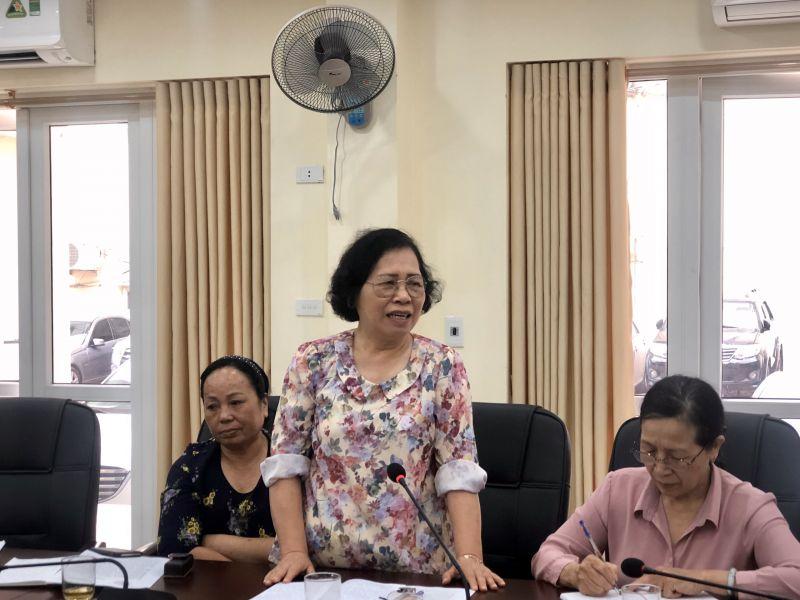 Bà Hoàng Thanh Mai, Ủy viên Thường vụ Hội LHPN phường Dịch Vọng Hậu