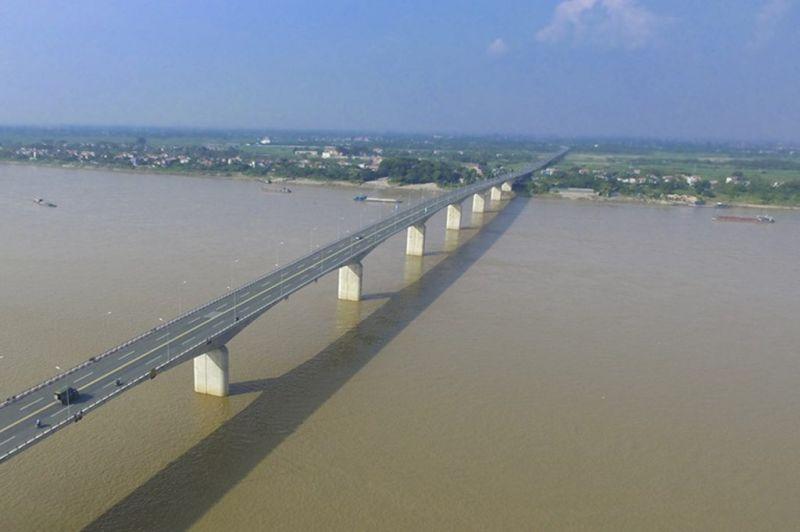 Cầu Vĩnh Thịnh được hoàn thành vào năm 2014.
