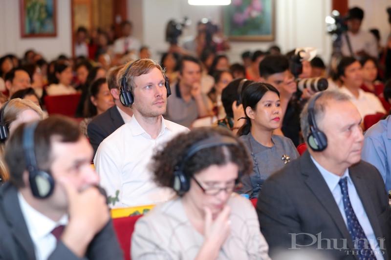 Lễ công bố thu hút sự quan tâm của đông đảo quan khách quốc tế.