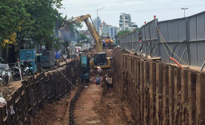 Dự án đang được các nhà thầu tập trung thi công.