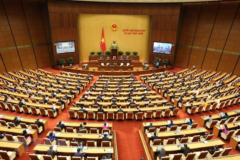 Đợt 2 kỳ họp thứ 9 Quốc hội khóa XIV diễn ra theo hình thức tập trung. Ảnh: PV.
