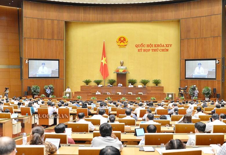 Toàn cảnh phiên họp Quốc hội ngày 9/6.