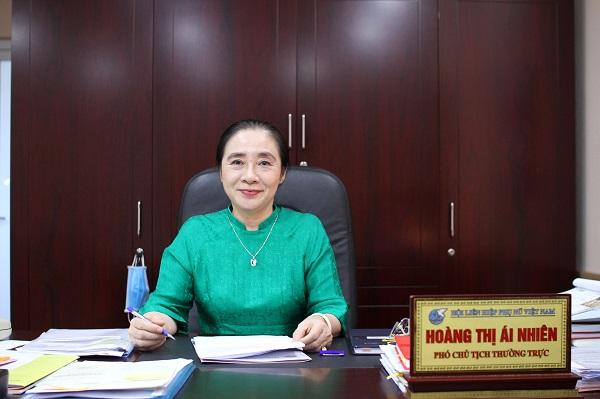 Bà Hoàng Thị Ái Nhiên - Phó Chủ tịch Thường trực Hội LHPN Việt Nam. Ảnh: Nguyễn Thực