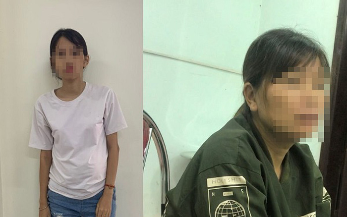 Hai phụ nữ được cơ quan công an giải cứu.