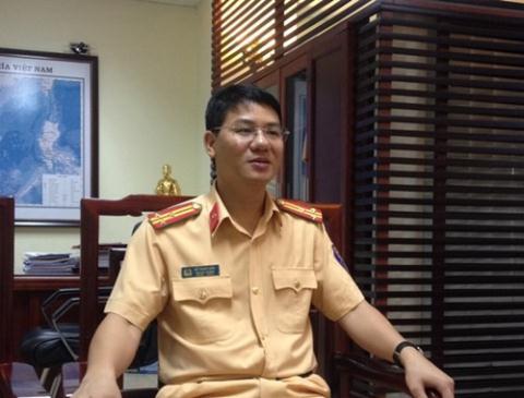 Đại tá Đỗ Thanh Bình - Phó cục trưởng Cục CSGT (Bộ Công an) trao đổi với báo chí sáng 1/7