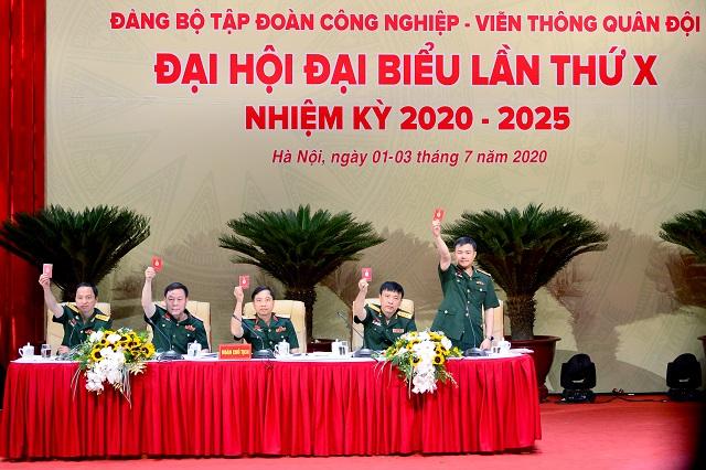 Đại hội Đảng bộ lần thứ X của Tập đoàn Công nghiệp Viễn thông Quân đội Viettel diễn ra ngày 2/7/2020.