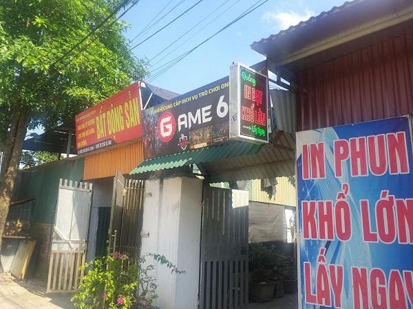 Quán game trên trục Đê Tả Sông Hồng xã Vĩnh Ngọc, huyện Đông Anh, Hà Nội  Ảnh: Hải Hải