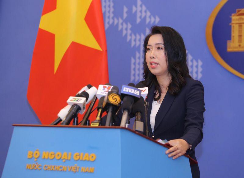 Người phát ngôn Bộ Ngoại giao Việt Nam Lê Thị Thu Hằng trả lời các câu hỏi của phóng viên liên quan đến vấn đề Biển Đông.