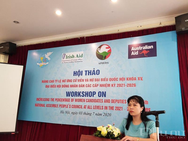 Đồng chí Tạ Thị Yên, Vụ trưởng vụ Công tác đại biểu Văn phòng Quốc hội