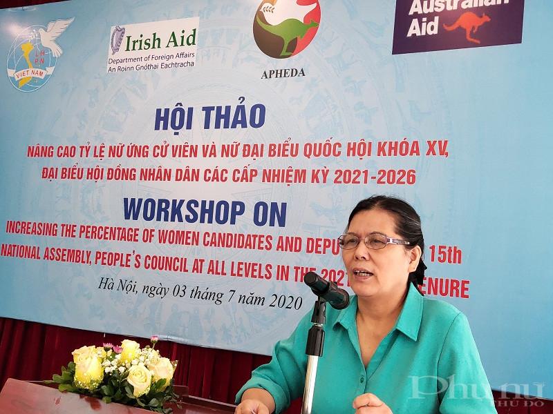 đồng chí Nguyễn Thị Thanh Hòa, nguyên Chủ tịch Hội LHPN Việt Nam, Chủ tịch Hội bảo vệ quyền trẻ em Việt Nam