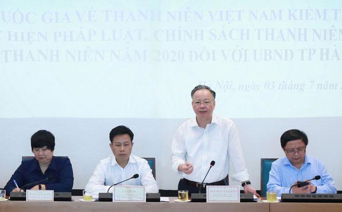 Đồng chí Nguyễn Văn Sửu phát biểu tại buổi làm việc.