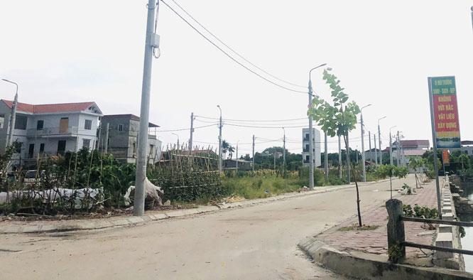 Khu đất Bờ Đầm (xã Lại Yên, huyện Hoài Đức) đã được hoàn thiện hạ tầng để tổ chức đấu giá. Ảnh: Đỗ Hùng