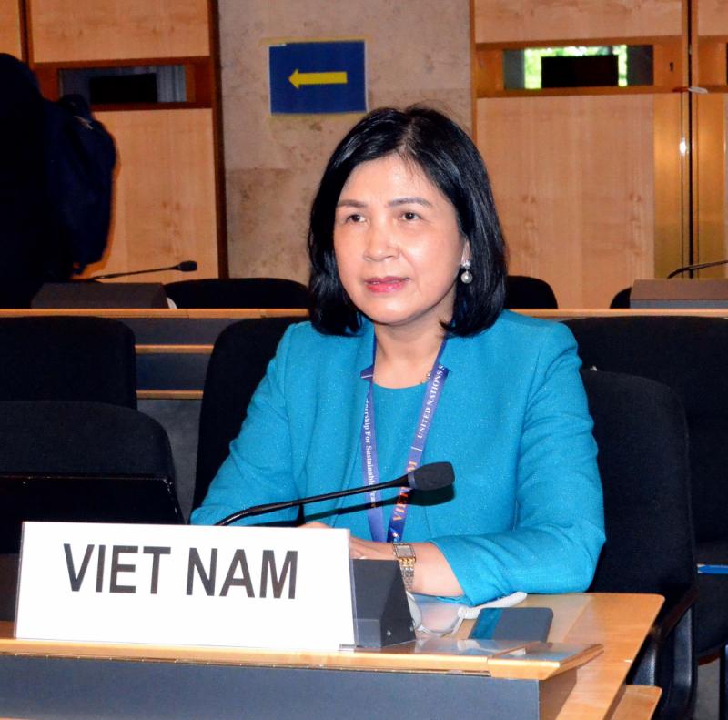 Đại sứ Lê Thị Tuyết Mai, Trưởng Phái đoàn Việt Nam tại Geneva - Nguồn: Phái đoàn Việt Nam tại Geneva