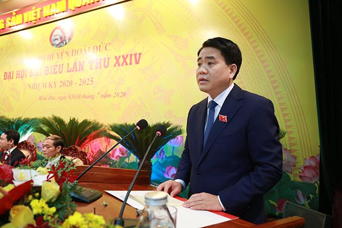 Đ/c Chủ tịch UBND TP Hà Nội  phát biểu chỉ đạo tại Đại hội.