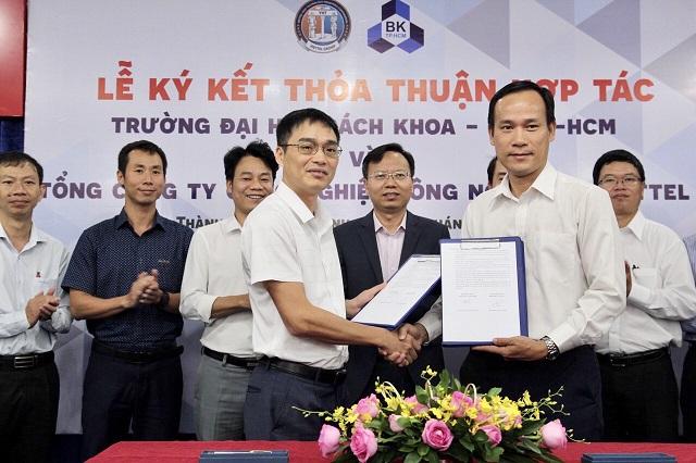 Lễ ký kết thỏa thuận hợp tác giữa Tổng Công ty VHT và Trường ĐHBK.