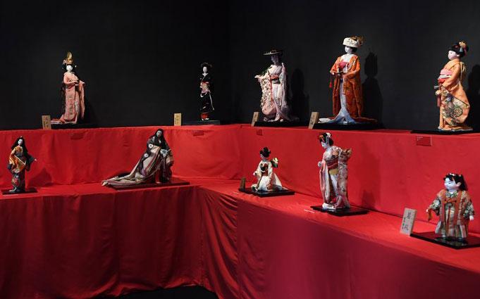 Triển lãm búp bê truyền thống Nhật Bản.
