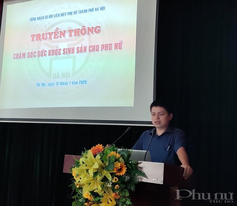 Thạc sỹ, bác sỹ Nguyễn Công Định- Phó Giám đốc  phụ trách cơ sở 2 Bệnh viện Phụ sản Hà Nội