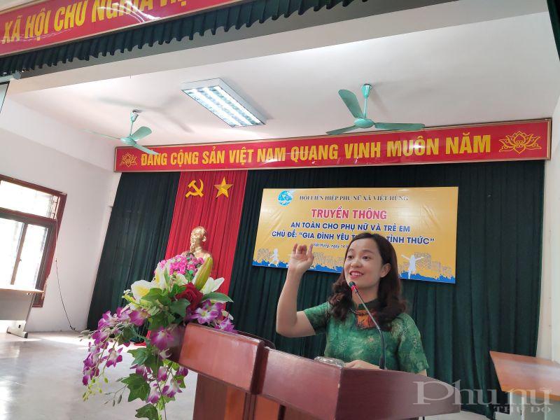Tiến sỹ Bùi Thiên Nga báo cáo viên buổi truyền thông