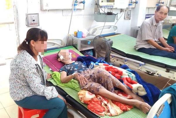 Người mẹ bại liệt bị con trai đánh phải nhập viện cấp cứu tại Hải Dương ngày 7/7/2020